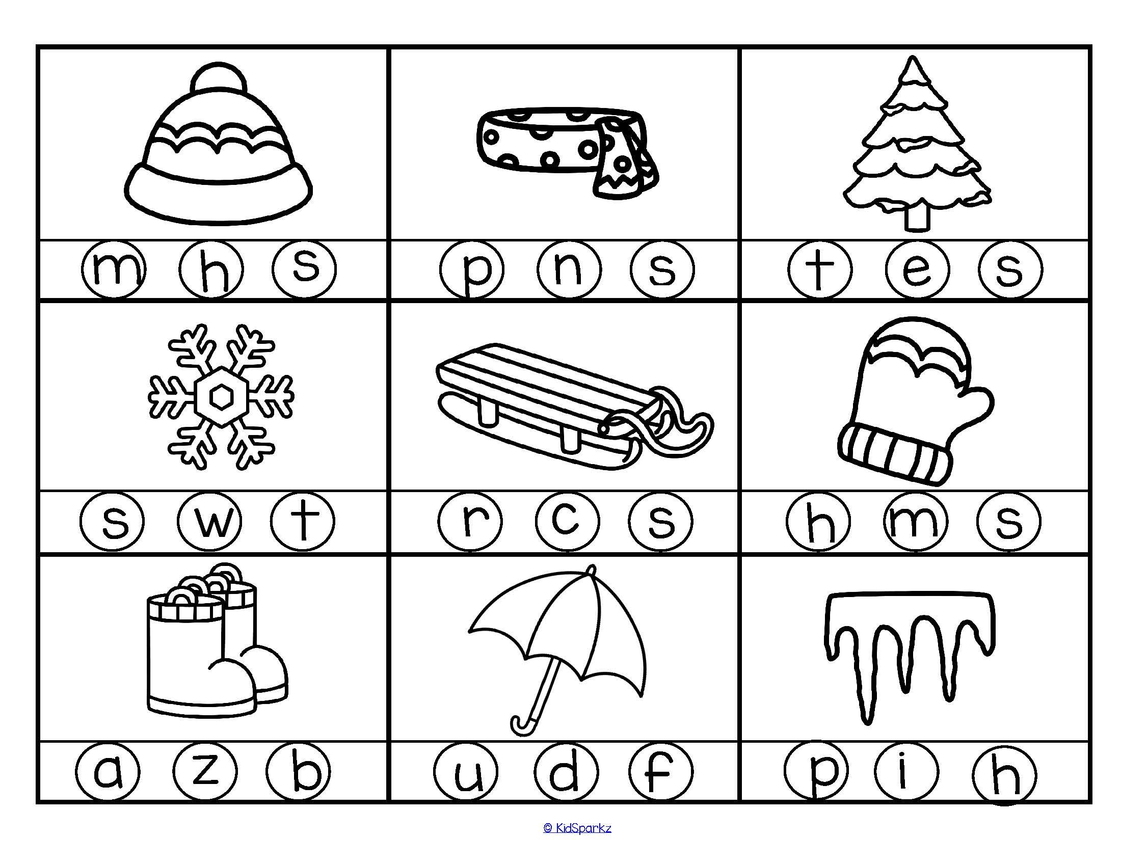 2 Free Printables With A Winter Theme 18 Pictures In B W Kindergarten Preschool Winterp Winter Kindergarten Preschool Winter Worksheets Winter Preschool