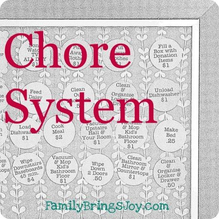 Excellent chore system