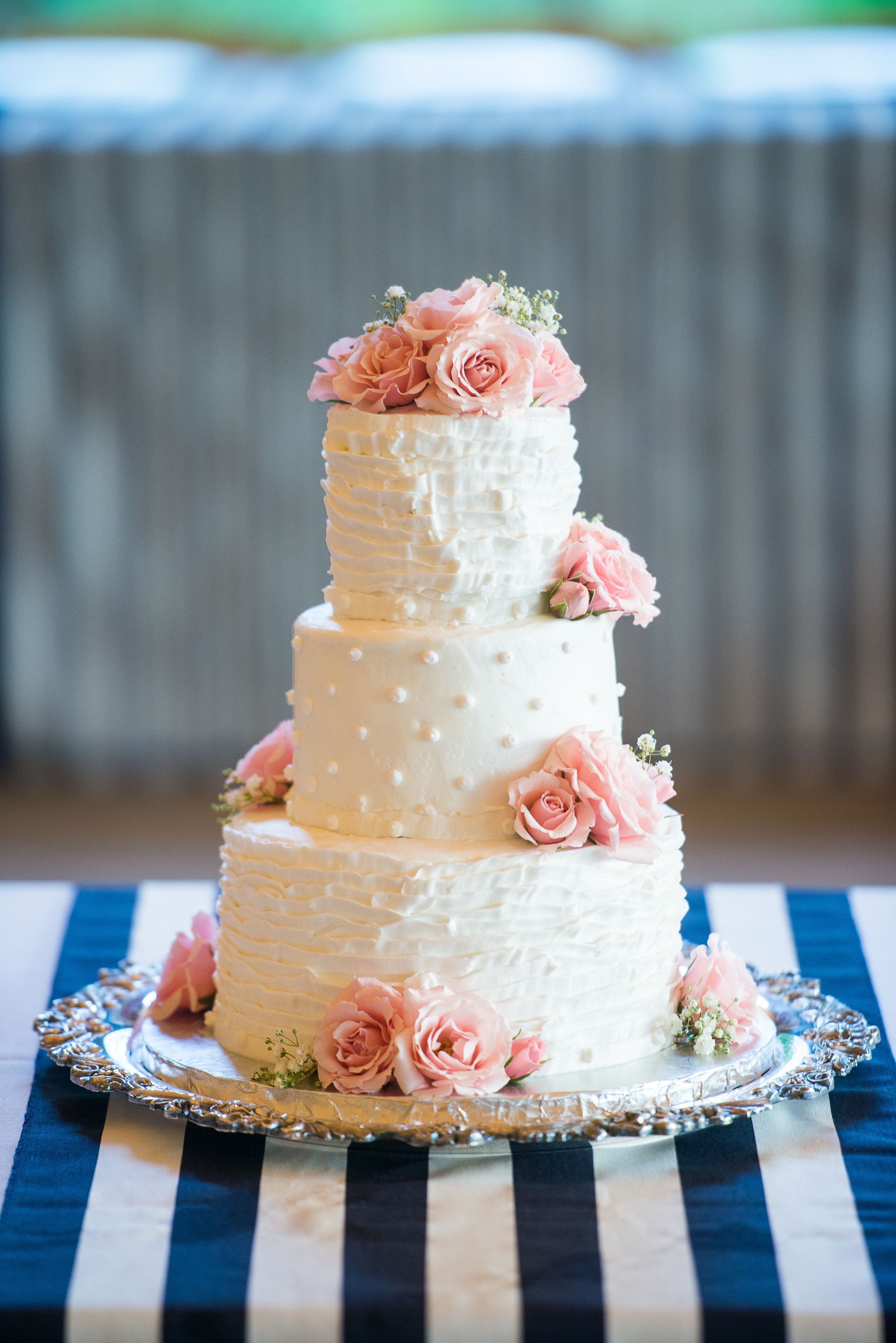 Rustic Buttercream Wedding Cake | 12/10/8/6 | Beth