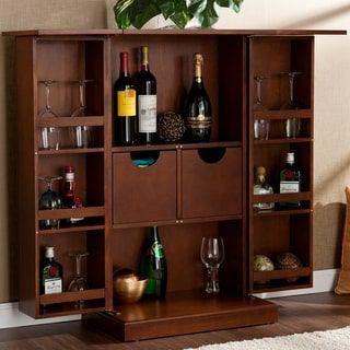 Harper Blvd Trinity Walnut Fold Away Bar Bars For Home Bar Furniture Home Bar Furniture