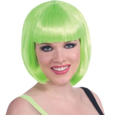 Green Bob Wig Party City Halloween Costume Wigs Halloween Wigs Costume Wigs