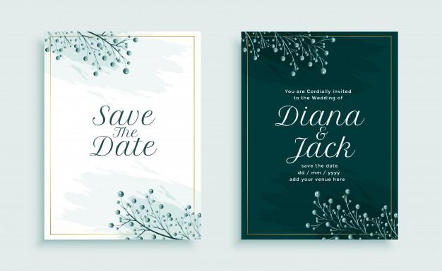 40 Tulisan Save The Date Untuk Undangan Pernikahan Retro Wedding Invitations Wedding Invitation Vector Floral Wedding Invitation Card