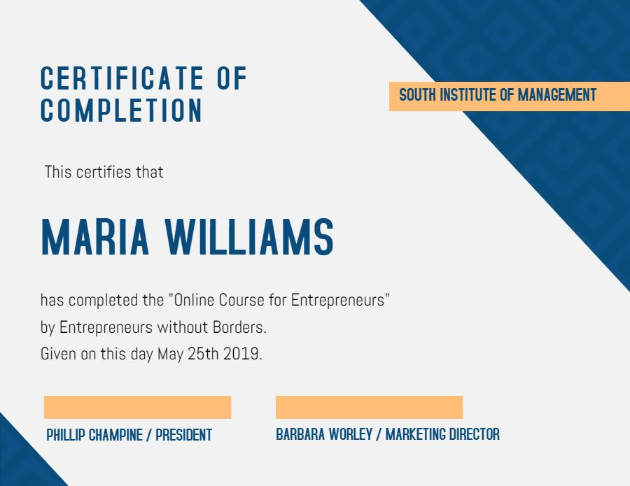 Certificate Of Achievement Diploma Template Modern Graduation