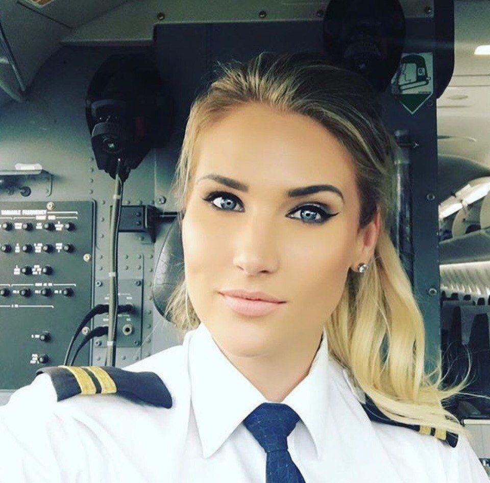 Beautifulgirl,Pilot,Russian    Aviation And -7821