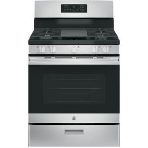30 In 5 0 Cu Ft Free Standing Gas Range In Stainless Steel Stainless Steel Oven Gas Range Free Standing Gas