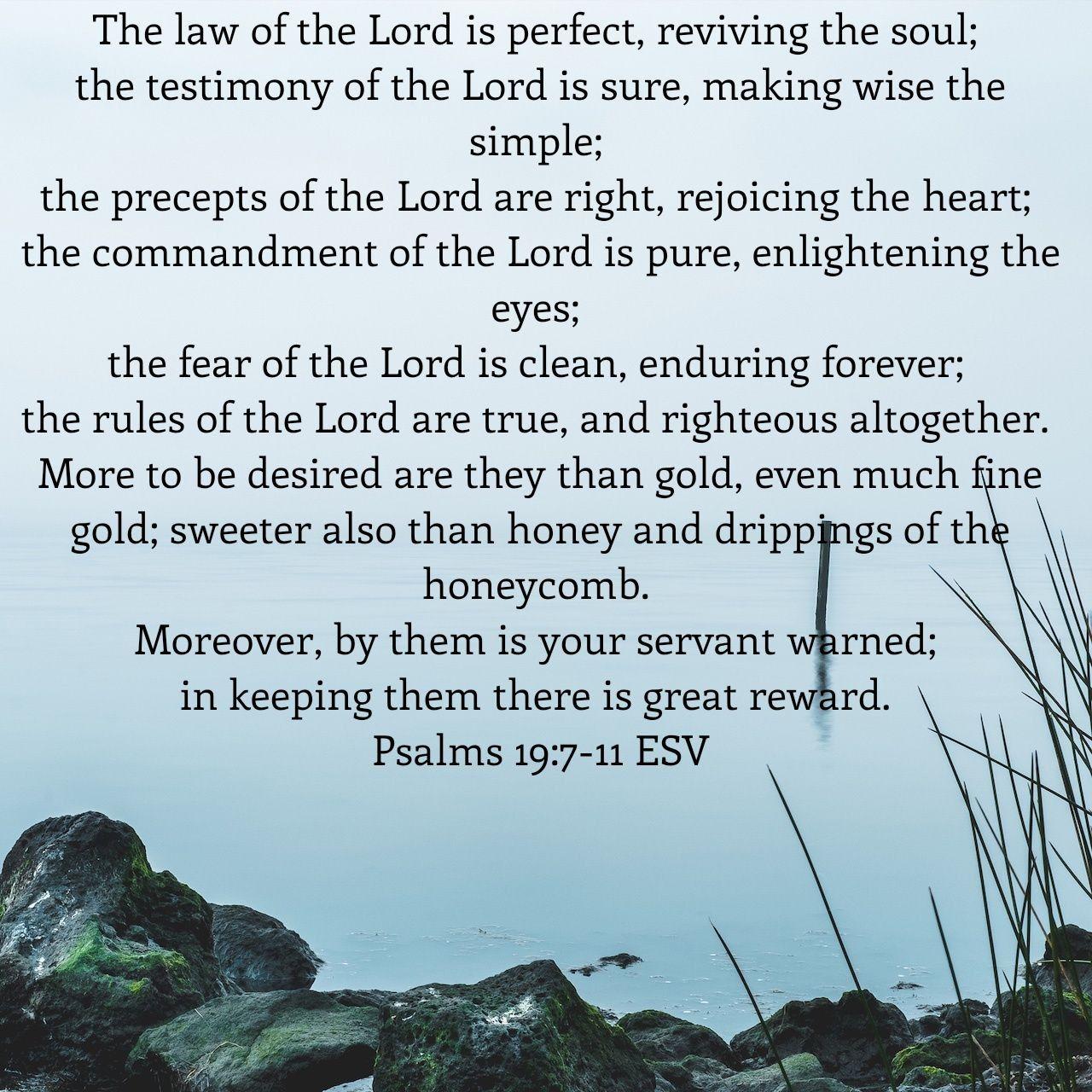 Psalm 19 7 11 Biblical Teaching Fear Of The Lord Nkjv