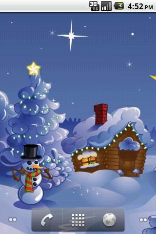 Animated Christmas Sleigh Rides Christmas Cabin Live Wallpaper