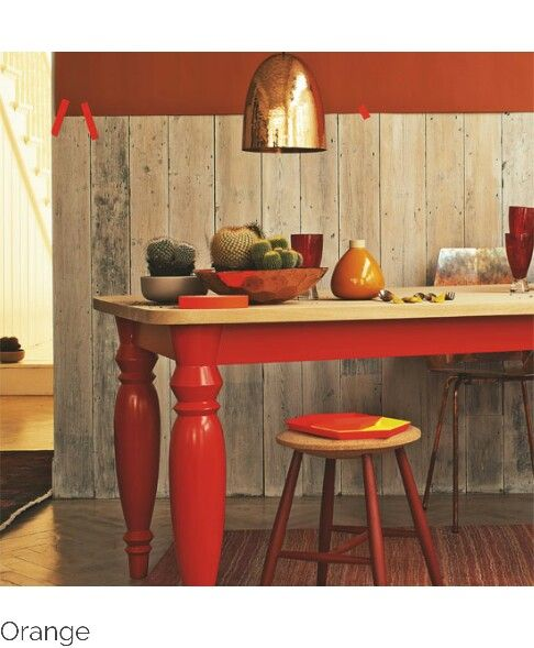 Orange Diningcopper Light Colour  Pinterest Enchanting Orange Dining Room Table Inspiration Design