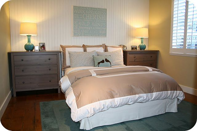 Dressers As Nightstands   Good Use Of Space In A Small Room.