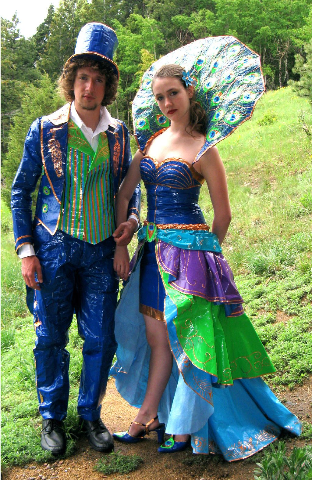 steampunk duct tape dresses   Duct Tape Prom Dress and Suit ...