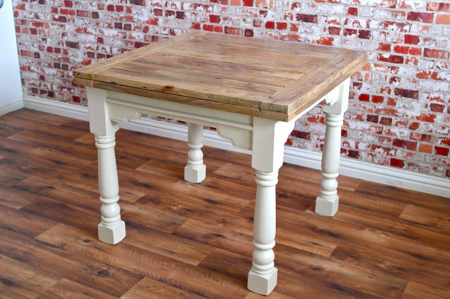 Extending Rustic Farmhouse Dining Table Drop Leaf Natural