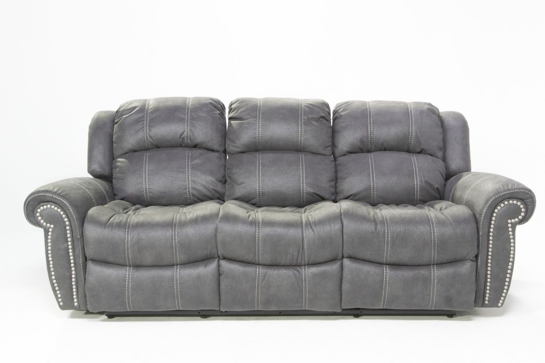 Berkshire Gray Reclining Sofa   Sofas   Living Room