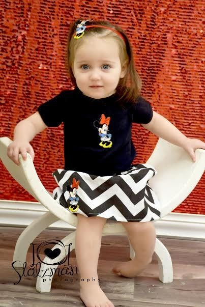 Little Girls Handmade Black and White Minnie Mouse Girly Skirt & Onesie/T-Shirt Set Baby Girls Mickey Outfit Vacation Clothes by BabyGirlTutus on Etsy