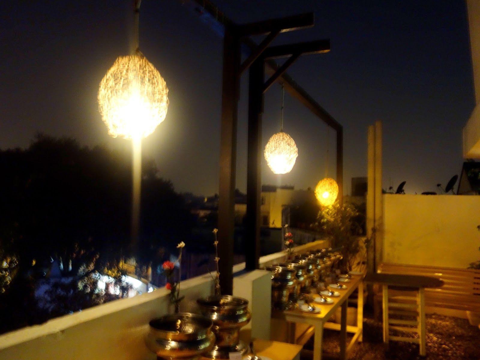 Cafe 27 Kailash Colony Market New Delhi Edison Light Bulbs Light Bulb Decor