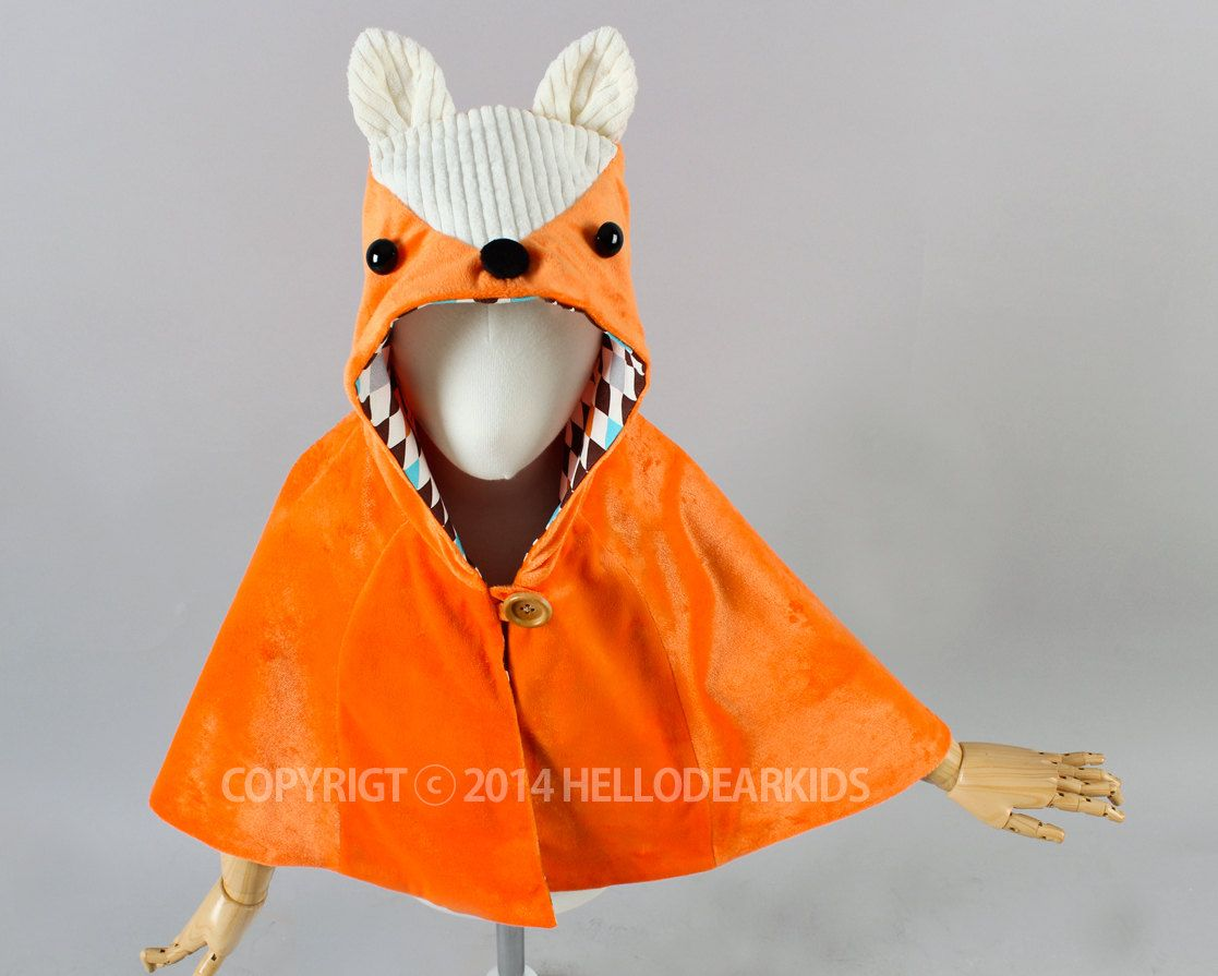 Kids sewing pattern pdf fox cape fox manteaukids costume kids sewing pattern pdf fox cape fox manteaukids costumehalloween costume jeuxipadfo Images