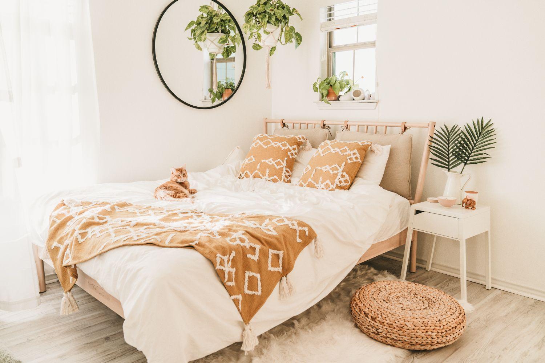 IKEA Bedroom Makeover For Under 600 Home decor bedroom