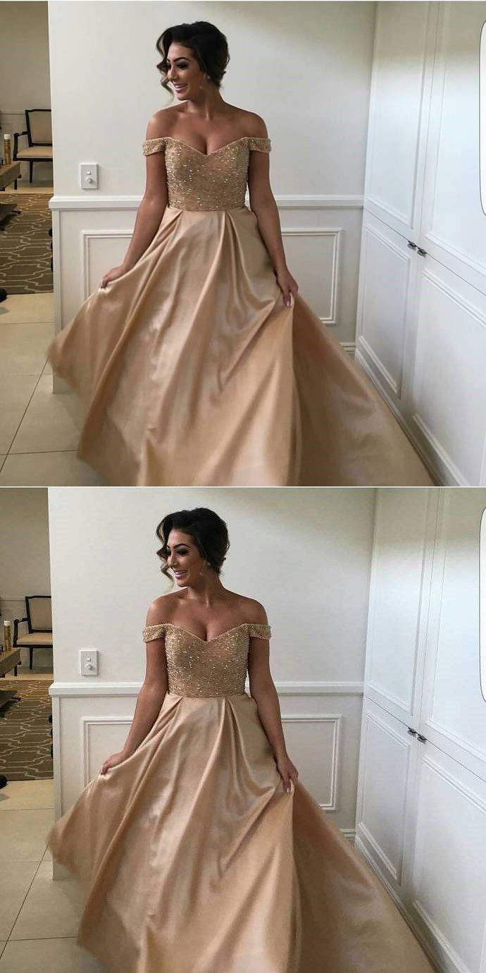 Sleeveless prom dressa line evening dressoff shoulder prom dresses