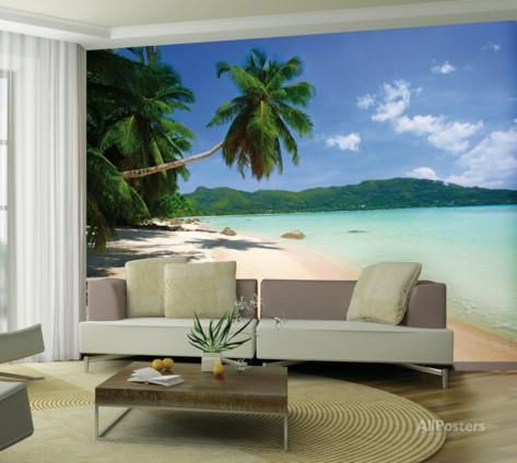 Tropical Beach Wallpaper Mural Behangposter Huis Inrichting Walls