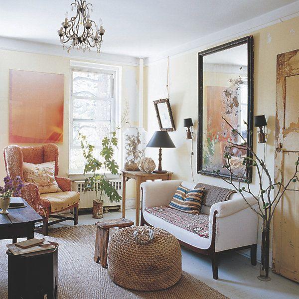 John Derian S Apartment In Ny Urban Apartment Decor Apartment Decor Living Room Mirrors #oversized #living #room #mirror