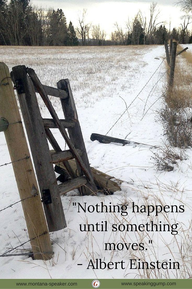 """Nothing happens until something moves.""  - Albert Einstein   #MDI"