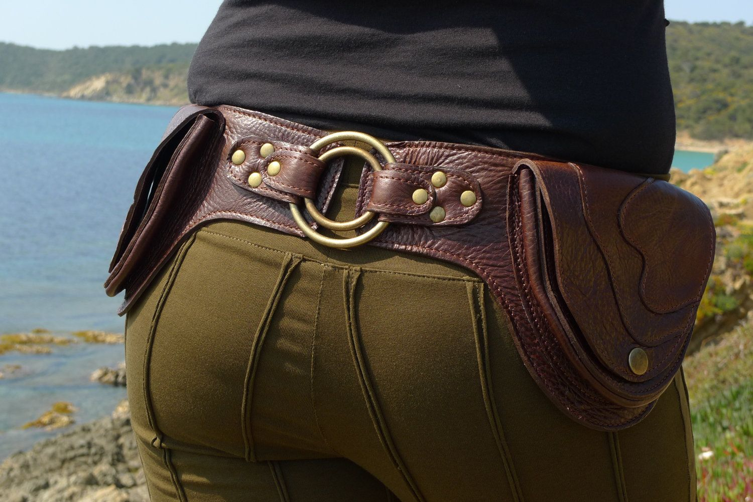 Leather Utility Belt Designer Hip Belt Festival belt