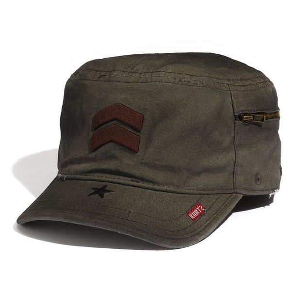 b6b72946 A. Kurtz 'Fritz' Oiled Cap (2.275 RUB) ❤ liked on Polyvore featuring men's  fashion, men's accessories, men's hats, military, mens caps and hats and  mens ...