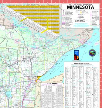 Northeast regional map maps Pinterest Highway map and Minnesota