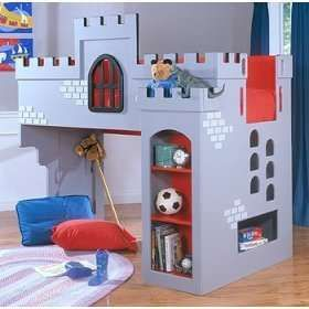 This castle loft bed would loook great in a lego room!
