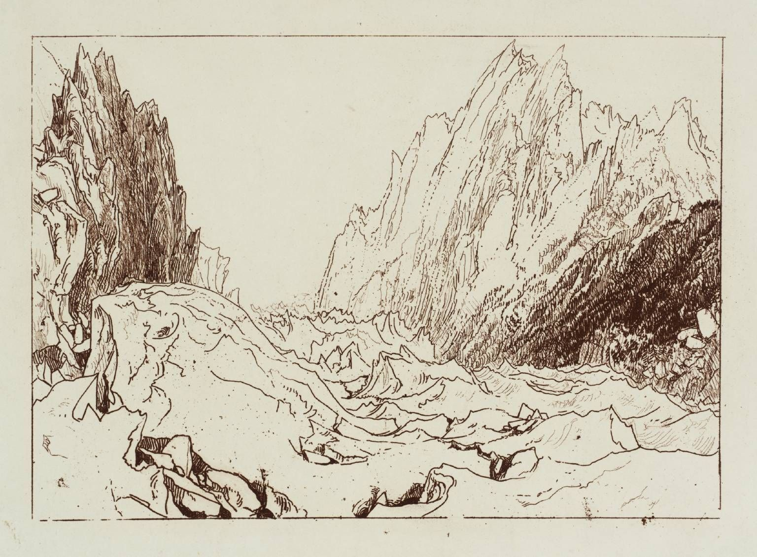 Joseph Mallord William Turner (1775‑1851) - 'Mer de Glace', 1812, Etching and engraving on paper.