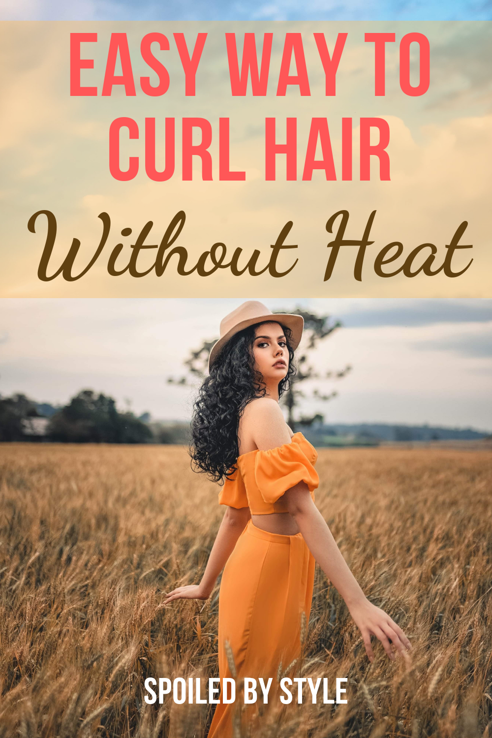 How To Curl Hair Without Heat In 5 Minutes