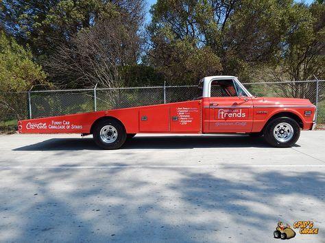 Spud S Garage 1971 Chevy C30 Ramp Truck Funny Car Hauler Trucks Cars Trucks Car
