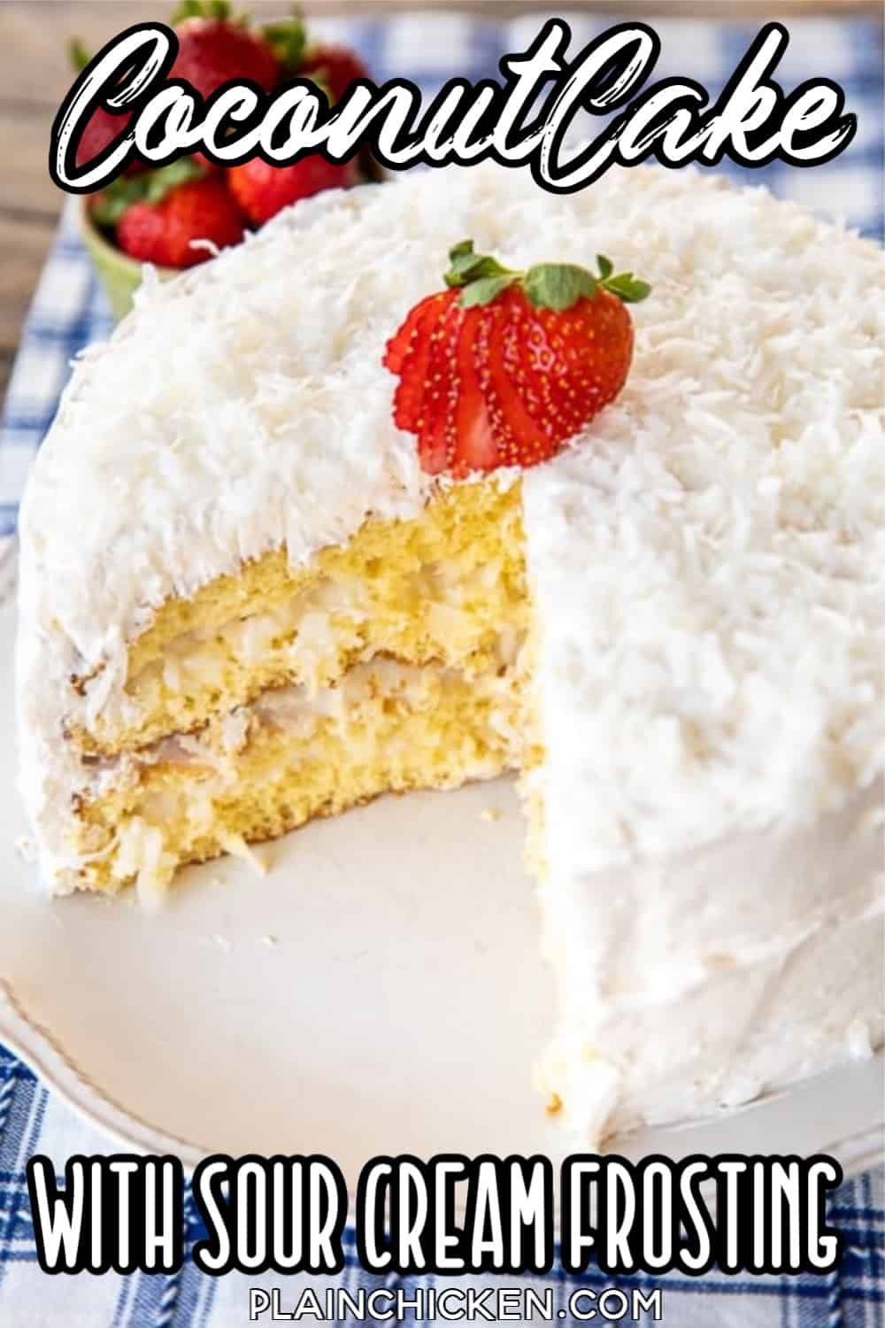 Coconut cake the sour cream cool whip frosting makes