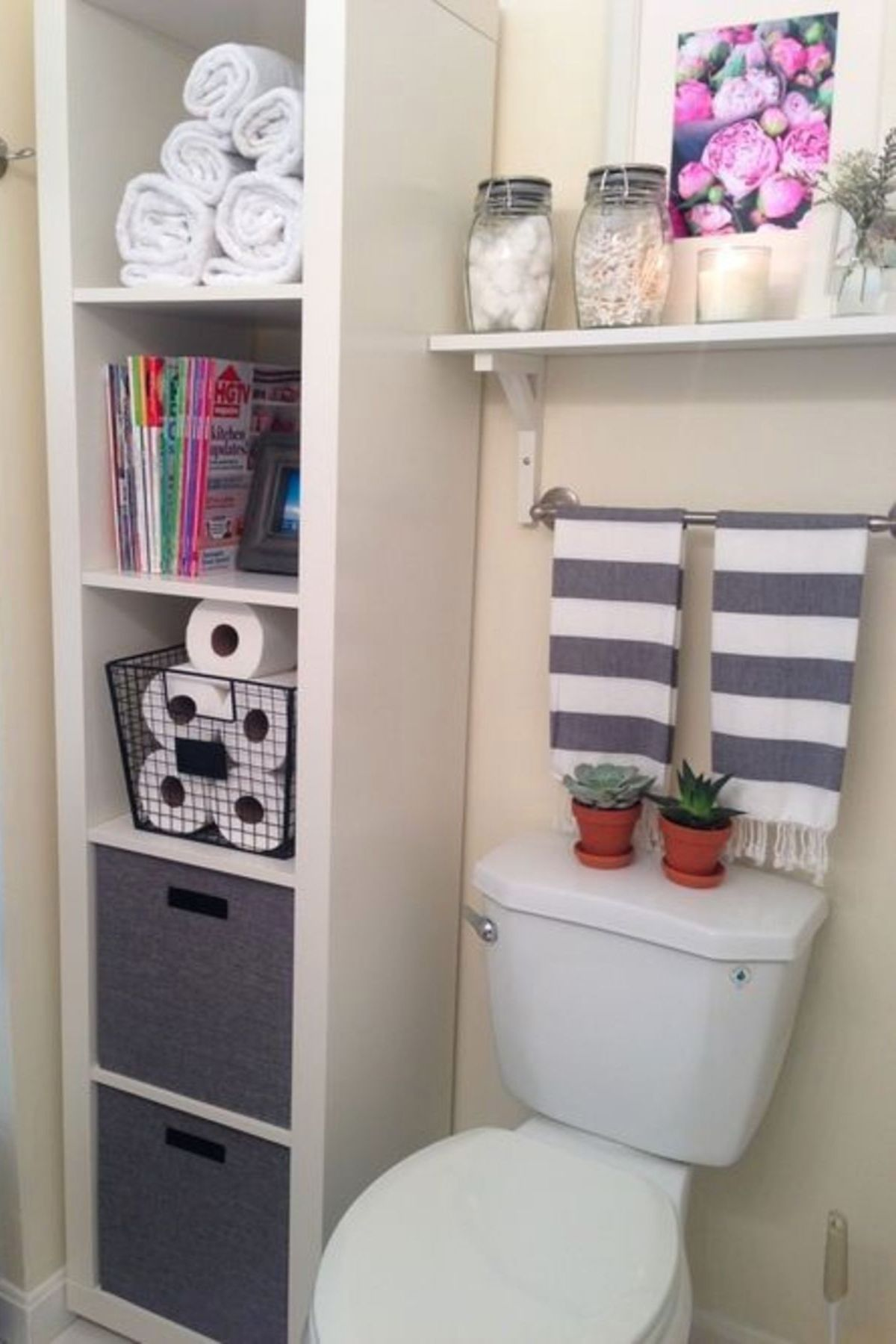 Creative Bathroom Storage Solutions For Small Bathrooms And Organization Ideas We Love Diy Bathroom Storage Bathroom Storage Solutions Bathroom Storage Hacks