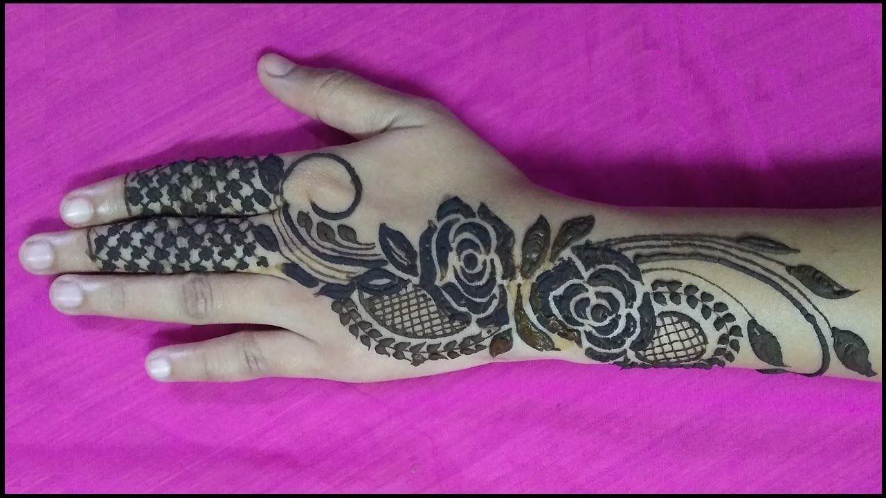 Mehendi design rose pattern tutorial video learn how to apply mehendi design rose pattern tutorial video learn how to apply henna baditri Images