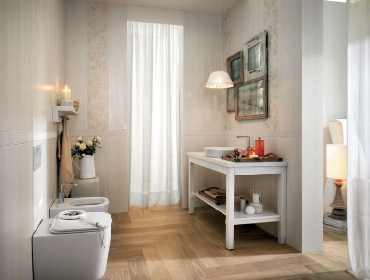 Carrelage salle de bain imitation bois \u2013 34 idées modernes Parquet