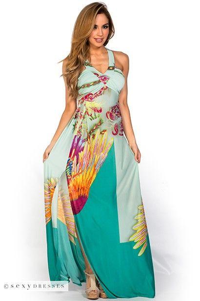 Birds of paradise maxi dress
