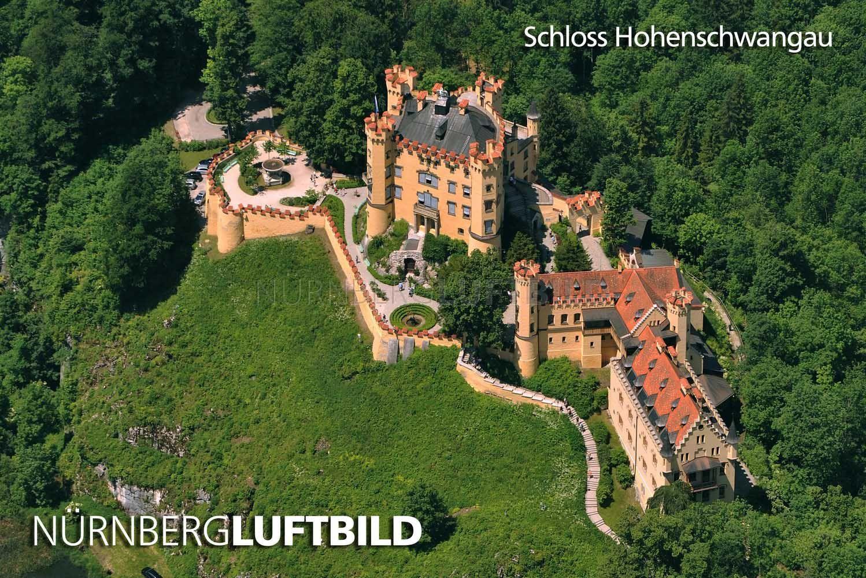 Schloss Hohenschwangau Luftaufnahme Luftaufnahme Luftbild Bilder