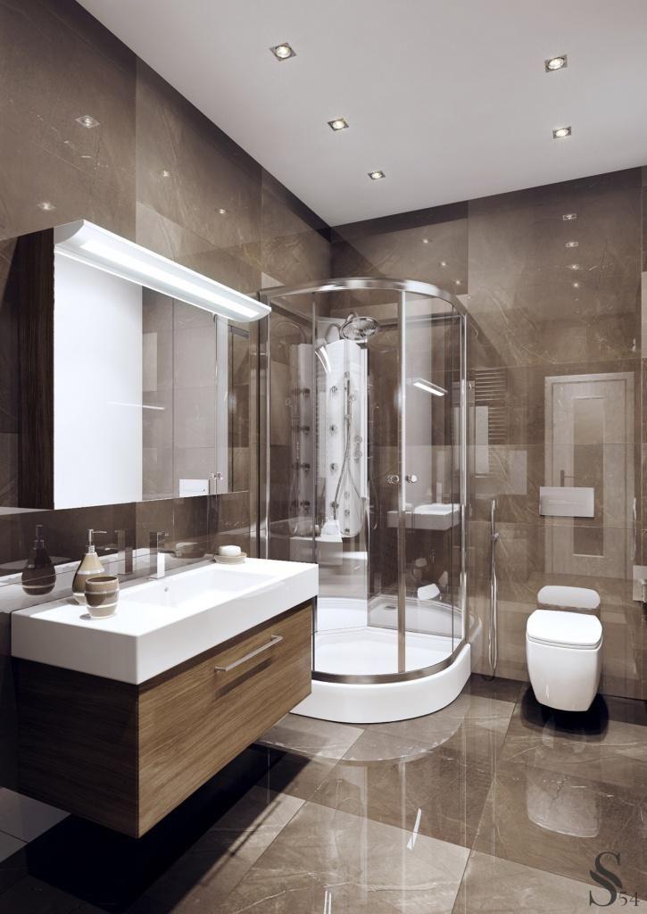 Дизайн интерьера ванной комнаты в картинках