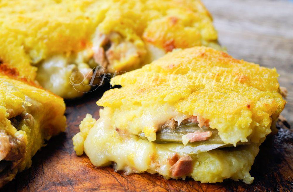 Schiacciata di patate tonno e carciofi, ricetta facile, piatto unico, idea per pranzo, cena, torta salata con le patate, ricetta senza carne, salumi, rustico, formaggio