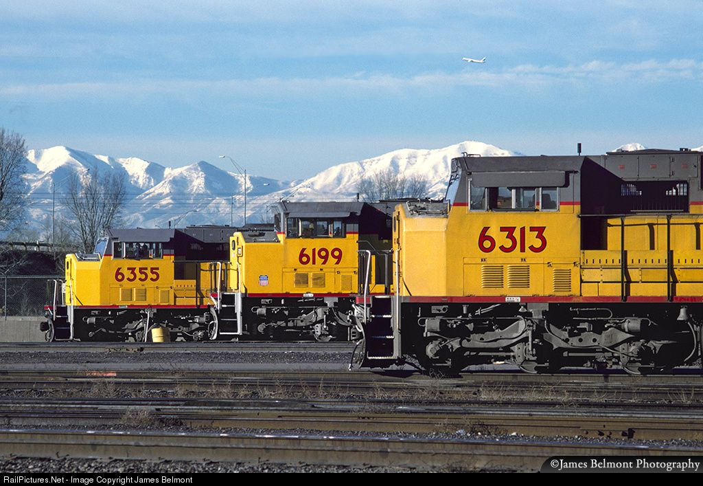 Up 6335 Union Pacific Emd Sd60m At Salt Lake City Utah By James Belmont Union Pacific Railroad Abandoned Train Train