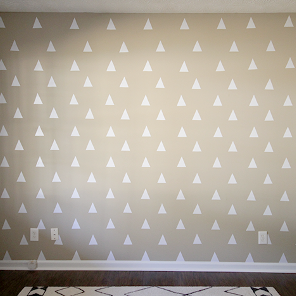 Diy triangle accent wall for less than triangles and diy ideas
