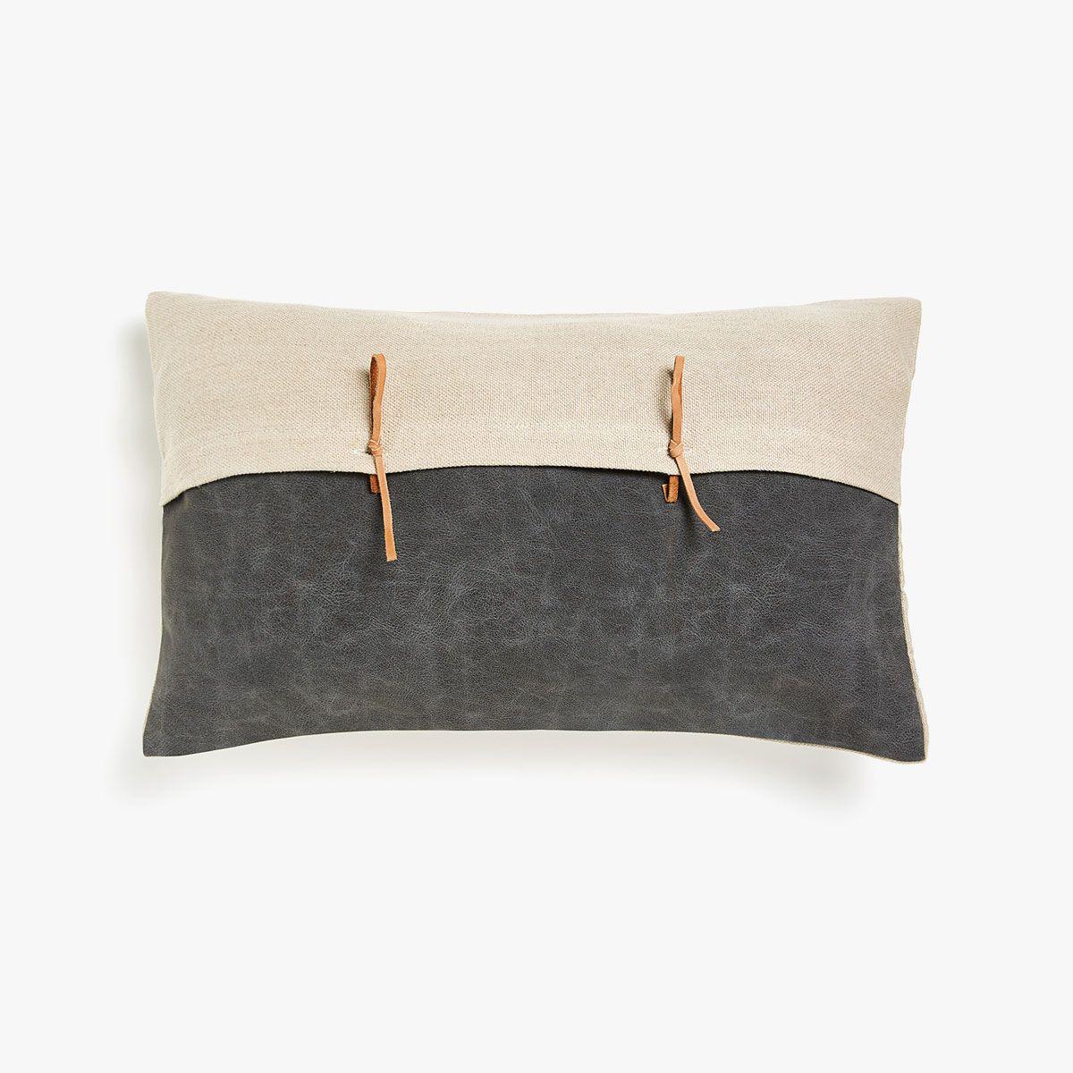 Kdays Burlap Look Light Brown Pillow