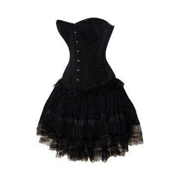 black bustier corset  dresses fashion gothic dress