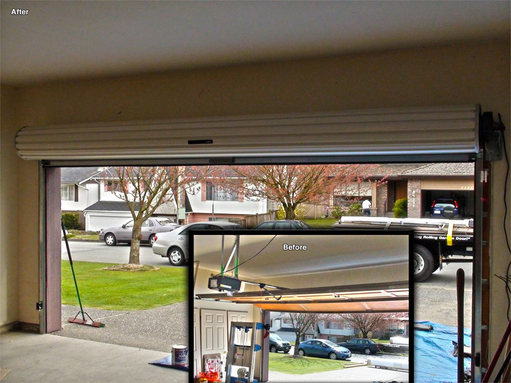 Roll Up Garage Door Vs. Overhead Garage Door, See How Much Head Space You  Can Save! #garagedoor