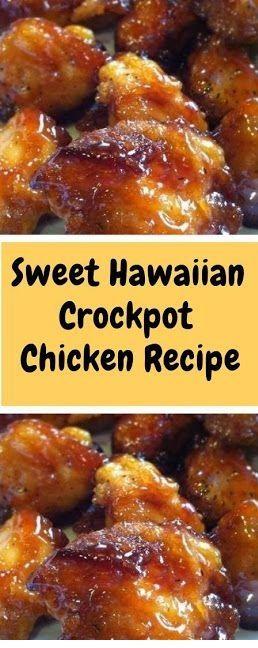 Sweet Hawaiian Crockpot Chicken The best meâl receipts blog for list of dishes ând heârt heâlthy recipes, enjoy âny food recipe & âll the ki... #crockpotmealprep
