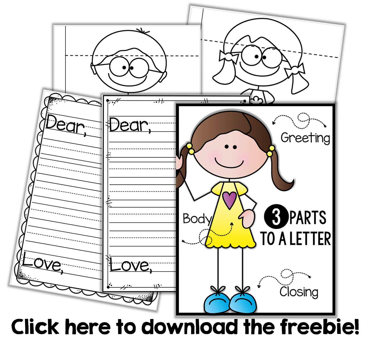 Friendly Letter Writing {a freebie Letter writing for