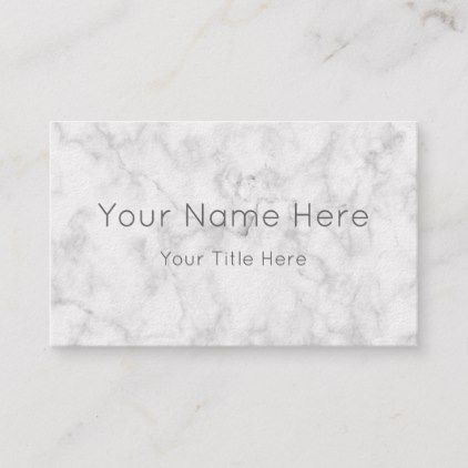 Custom Marble Personalised Business Cards In 2018 Marble Style
