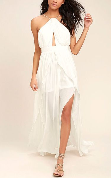 On My Own White Maxi Dress via @bestchicfashion