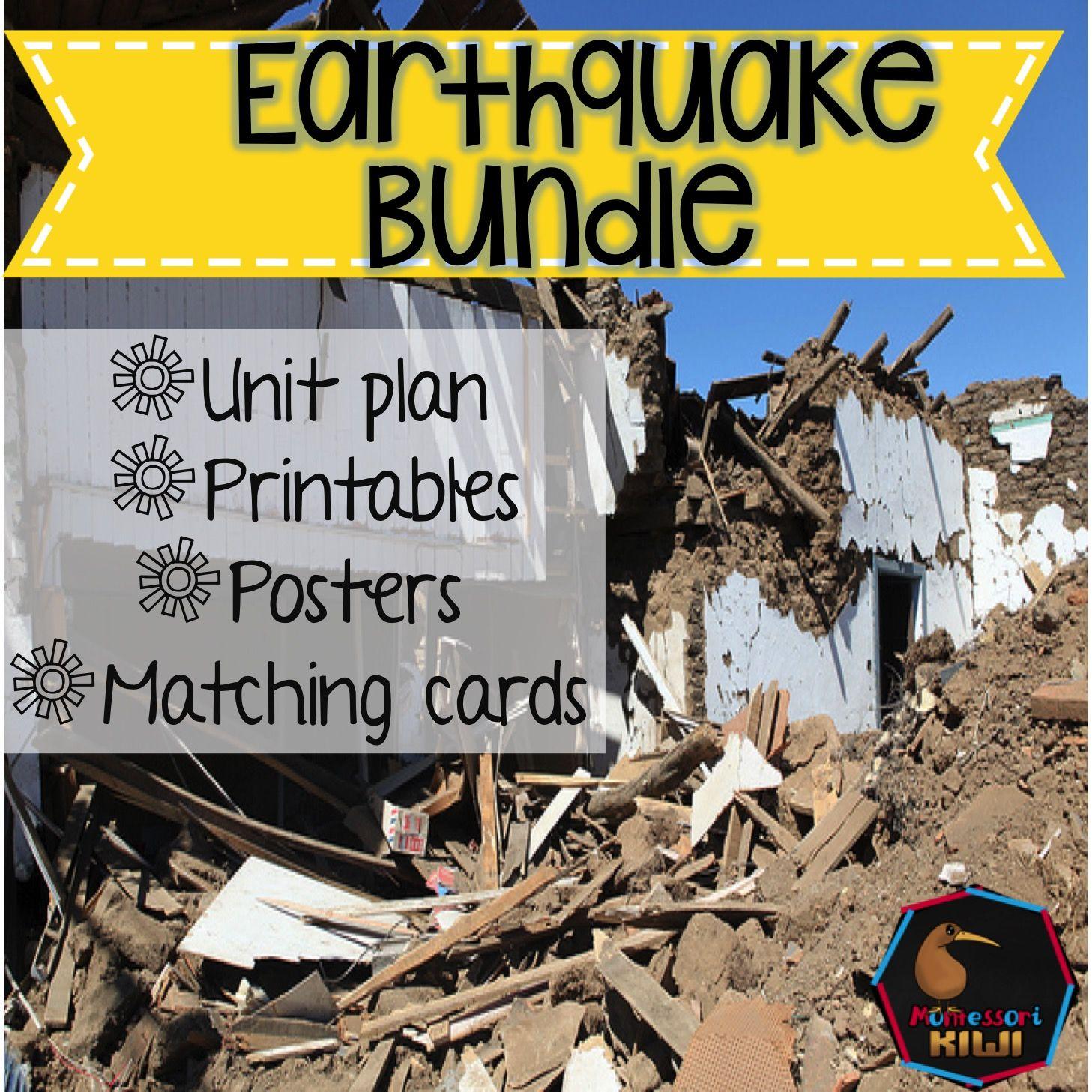 Earthquake Bundle Unit Plans Printables Posters