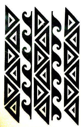 polynesian hawaiian samoan tribal warrior arm or leg band temporary rh pinterest com Best Samoan Tattoo Designs Samoan Tattoo Designs